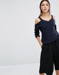 Вязаный джемпер с открытыми плечами Vero Moda - Черный