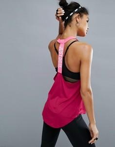 Майка с принтом на бретельке Nike Training - Красный
