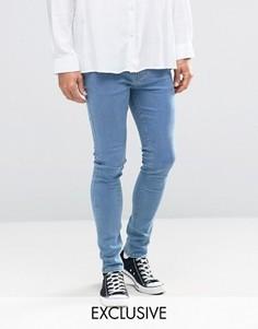 Супероблегающие джинсы Reclaimed Vintage - Синий