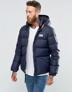 Стеганая дутая куртка со съемным капюшоном Penfield Bowerbridge - Темно-синий