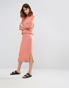 Юбка миди в стиле casual Vero Moda - Оранжевый