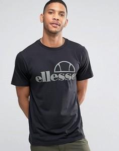 Футболка с крупным логотипом Ellesse - Черный