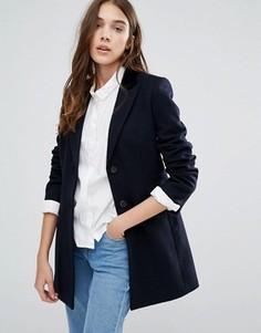 Шерстяное пальто Jack Wills Chepmell - Темно-синий