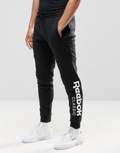 Черные джоггеры с большим логотипом Reebok AY0784 - Черный