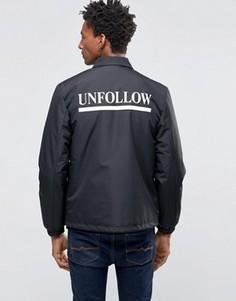 Спортивная куртка с принтом на спине Wood Wood Kael - Черный