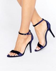 Вельветовые сандалии на каблуке Glamorous - Темно-синий