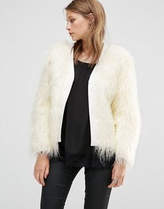 Меховая куртка Jayley Luxurious - Белый