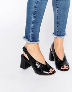 Босоножки на каблуке ASOS HOLLIE - Черный
