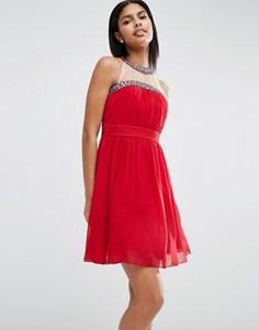 Платье для выпускного с декоративной отделкой Little Mistress - Красный