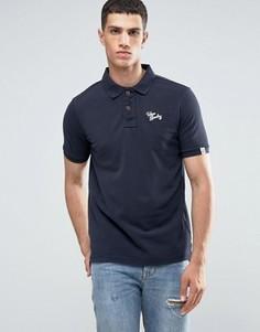 Однотонная футболка-поло с логотипом Tokyo Laundry - Темно-синий