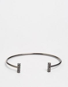 Незамкнутый браслет с камнями Pilgrim - Серебряный