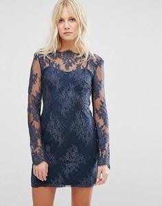 Платье с длинными рукавами Stylestalker Katara - Темно-синий