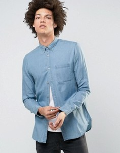 Джинсовая рубашка слим Selected Homme - Синий