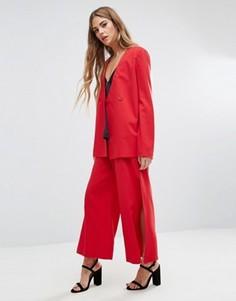 Широкие брюки Fashion Union - Красный