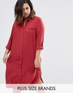 Платье-рубашка Junarose Plus Rea - Красный