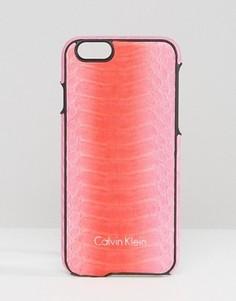 Чехол для Iphone 6 с эффектом змеиной кожи Calvin Klein - Розовый