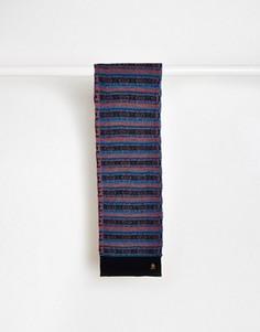 Шерстяной шарф с традиционным узором Фэйр-Айл Original Penguin - Синий