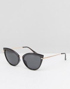 Солнцезащитные очки кошачий глаз цвета розового золота ASOS - Золотой