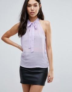 Топ без рукавов с завязкой у горловины Glamorous - Фиолетовый
