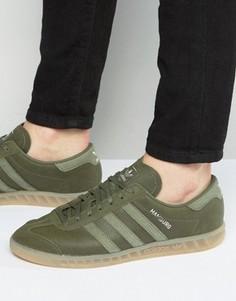 Кроссовки цвета хаки adidas Originals Hamburg BB4993 - Зеленый
