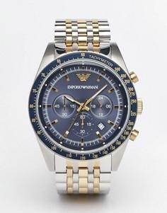 Часы из нержавеющей стали с хронографом Emporio Armani Tazio AR6088 - Серебряный