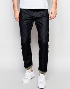 Суженные книзу джинсы из темного денима G-Star 3301 Brooklyn - Синий