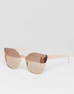 Солнцезащитные очки в металлической оправе с зеркальными стеклами ASOS - Золотой