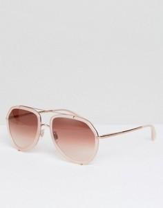 Розовые солнцезащитные очки-авиаторы Dolce & Gabbana - Розовый