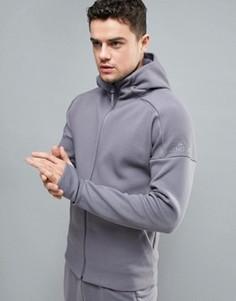 Худи серого цвета adidas ZNE BP8471 - Серый