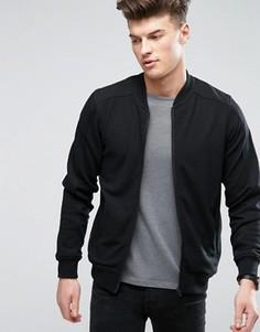 Куртка в рубчик на молнии Threadbare - Черный