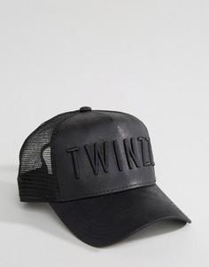 Бейсболка из искусственной кожи Twinzz - Черный