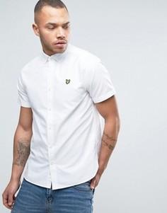 Белая оксфордская рубашка классического кроя с короткими рукавами Lyle & Scott - Белый