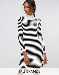 Платье-джемпер в полоску с закругленным низом Vero Moda Tall - Мульти