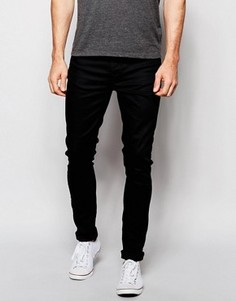 Черные супероблегающие джинсы Nudie Jeans Pipe Led - Черный