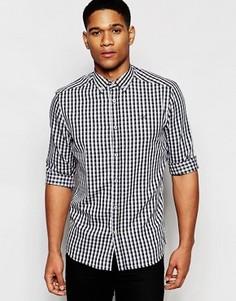 Монохромная рубашка в клетку классического кроя Solid - Черный