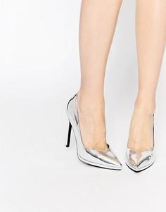 Туфли на платформе ASOS PIONEER - Серебряный