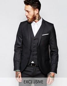 Супероблегающий пиджак в мелкую крапинку Heart & Dagger - Серый