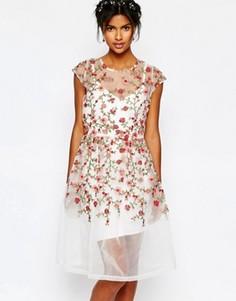 Платье с вышитыми розами Body Frock Wedding - Мульти