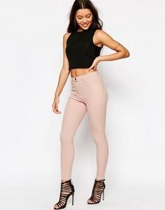 Эластичные брюки скинни ASOS - Розовый