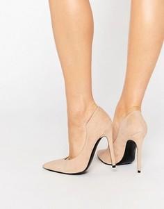 Замшевые туфли-лодочки с острым носом телесного цвета Kendall & Kylie Abi - Розовый
