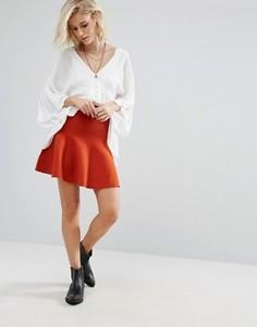 Мини-юбка с расклешенным краем Glamorous - Красный