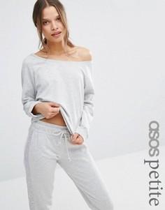 Трикотажный меланжевый свитшот ASOS PETITE LOUNGE - Серый