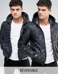 Двусторонняя стеганая куртка с капюшоном Replay - Черный