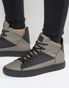 Высокие кроссовки с эффектом змеиной кожи Religion League - Серый