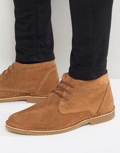 Теплые замшевые ботинки Selected Homme Royce - Рыжий
