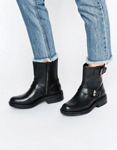 Кожаные байкерские ботинки Calvin Klein Jeans Flynn - Черный