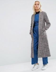 Красная твидовая удлиненная куртка Helene Berman - Красный