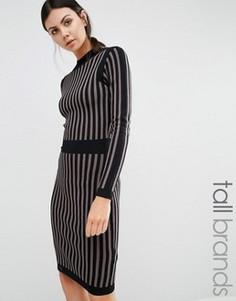 Вязаное платье‑футляр в полоску Y.A.S Tall Billi - Мульти