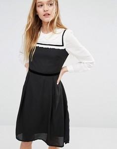Платье с воротником Питер Пэн I Love Friday - Черный