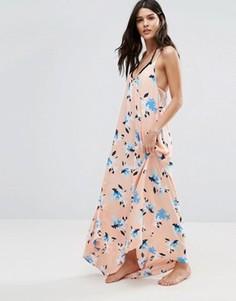 Пляжное платье макси с узором Vince Camuto - Розовый